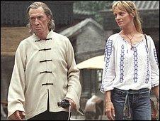 Kill Bill stars David Carradine and Uma Thurman
